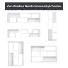 HOMCOM® Bücherregal Standregal Aktenregal 2-teilige Regale Büroregal MDF Weiß 120 x 35 x 50 cm(m-4)