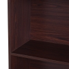 HOMCOM® Standregal Aktenregal Bücherregal Büroregal Holzregal Arbeitszimmer 4 Fächer Dunkelkaffee 80 x 29,5 x 180 cm(m-5)
