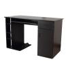 HOMCOM® Schreibtisch Bürotisch aus Holz Computertisch PC Tisch schwarz(m-5)