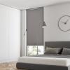 Outsunny® Senkrechtmarkise Alu Balkonmarkise mit Handkurbel UV50+ Hellgrau 160 x 250 cm(m-4)