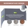 Outsunny® Doppel-Seitenmarkise Sichtschutz Seitenrollo Windschutz Polyester Grau L6xH1,8m(m-5)