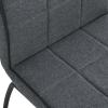 HOMCOM® Esszimmerstuhl Stuhlset 2-teilig Esstischgruppe Leinen+Schaumstoff Dunkelgrau(m-9)