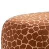 HOMCOM® Hocker für Kinder Kinderhocker Sitzhocker Polsterhocker im Tier-Design Giraffe(m-10)