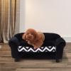 PawHut® Hundesofa Hundebett Hunde Couch Haustier Waschbar Erhöhte Füße Samt Schwarz(m-4)