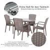 Outsunny® Gartenmöbel Set Fünfteiliges Sitzgruppe Sitzgarnitur 1 Tisch, 4 Stühle PP Rattan(m-4)