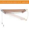 Outsunny® Markise Alu-Gelenkarm Gelenkarmmarkise 5 Farbe Sonnenschutz 3/3,5 /4/4,5m Balkon(m-5)