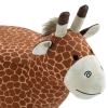 HOMCOM® Hocker für Kinder Kinderhocker Sitzhocker Polsterhocker im Tier-Design Giraffe(m-8)