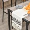 HOMCOM® Essgruppe mit 4 Stühlen Esszimmergarnitur Sitzgruppe Tischgruppe Grau(m-10)