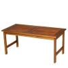 Outsunny® 4er-Set Gartenmöbel Holz Sitzgruppe Garnitur Lounge mit Kissen Tisch Sessel Braun 3–4 Personen(m-6)