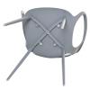HOMCOM® 2-teiliges Esszimmerstuhl Set Stuhl Küchenstuhl Stahl Kunststoff Grau(m-10)