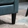 HOMCOM® Sofa Polstersofa Loveseat  Modern Wohnzimmer Eingang Blau mit Muster(m-8)