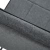 HOMCOM® Esszimmerstuhl Stuhlset 2-teilig Esstischgruppe Leinen+Schaumstoff Dunkelgrau(m-10)