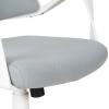 Vinsetto® Bürostuhl Drehstuhl Kippfunktion Leinen Grau Weiß(m-11)