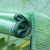 Outsunny® Gewächshaus Treibhaus Tomatenhaus Frühbeet mit Tür zum Aufrollen Stahl PE Grün(m-5)