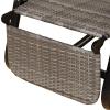 Outsunny® Schaukelstuhl Schwingsessel mit Fußstütze 3-fache Rückenlehne PE Rattan Grau(m-10)