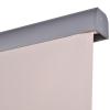 Outsunny® Senkrechtmarkise Alu Balkonmarkise mit Handkurbel UV50+ Cremeweiß 140 x 250 cm(m-9)