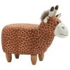 HOMCOM® Hocker für Kinder Kinderhocker Sitzhocker Polsterhocker im Tier-Design Giraffe(m-5)