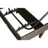 Outsunny® Polyrattan Gartenliege Sonnenliege Alu braun max.180 kg(m-3)