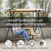 Outsunny® Hollywoodschaukel Gartenschaukel Sonnendach Aufbewahrungsbox Becherhalter Teslin(m-4)