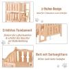 PawHut® Katzenbett 2 Ebenen Haustierbett Welpenbett Katzenhaus mit Treppe Tannenholz(m-5)