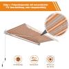 Outsunny® Markise Alu-Gelenkarm Gelenkarmmarkise 5 Farbe Sonnenschutz 3/3,5 /4/4,5m Balkon(m-7)