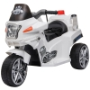 HOMCOM® Kindermotorrad 3–8 Jahre PP 87 x 41 x 54 cm Weiß(m-3)