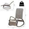Outsunny® Schaukelstuhl Schwingsessel mit Fußstütze 3-fache Rückenlehne PE Rattan Grau(m-3)