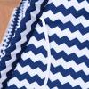 HOMCOM® Kinder Tipi Zelt Spieltipi Polyester Tannenholz 3-8 jahren Blau+Weiß(m-8)