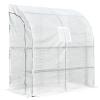 Outsunny® Treibhaus Gewächshaus mit 2 Türen Pflanzenaufzucht UV-Schutz Stahl PE(m-3)