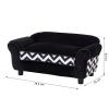 PawHut® Hundesofa Hundebett Hunde Couch Haustier Waschbar Erhöhte Füße Samt Schwarz(m-3)