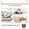 PawHut® Katzenbett 2 Ebenen Haustierbett Welpenbett Katzenhaus mit Treppe Tannenholz(m-7)
