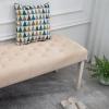HOMCOM® Schuhbank Sitzbank Sitztruhe Eingangsbereich Diele Polyester Beige(m-5)
