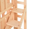 PawHut® Katzenbett 2 Ebenen Haustierbett Welpenbett Katzenhaus mit Treppe Tannenholz(m-8)