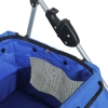 PawHut® Hundebuggy Hundewagen mit Sonnendach Stahl Blau(m-9)