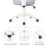 Vinsetto® Bürostuhl Drehstuhl Kippfunktion Leinen Grau Weiß(m-5)