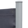 Outsunny® Doppel-Seitenmarkise Sichtschutz Seitenrollo Windschutz Polyester Grau L6xH1,8m(m-11)