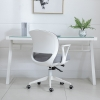 HOMCOM® Bürostuhl Drehstuhl Wippfunktion Netzdesign Grau Weiß(m-8)