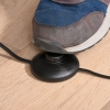 HOMCOM® Stehlampe Industriestil Standleuchte Sockel E27 Schwarz Stahl Marmor(m-8)