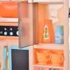HOMCOM® Kinderküche mit Zubehör Spielküche 65–teilige Spielzeugküche für 3–6 Jahre Blau(m-9)
