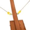 Outsunny® Hängematte mit Gestell Sonnenliege Gartenliege Sonnendach Lärche Holz 180kg(m-10)
