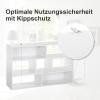 HOMCOM® Bücherregal Standregal Aktenregal 2-teilige Regale Büroregal MDF Weiß 120 x 35 x 50 cm(m-5)