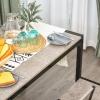 HOMCOM® Essgruppe mit 4 Stühlen Esszimmergarnitur Sitzgruppe Tischgruppe Grau(m-9)