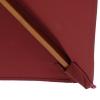 Outsunny® Sonnenschirm Gartenschirm Knickbar Sonnenschutz 3-stufig Holz+Polyester Weinrot(m-11)