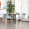 HOMCOM® 2-teiliges Esszimmerstuhl Set Stuhl Küchenstuhl Kunststoff Stahl Grau(m-2)