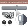 Outsunny® Doppel-Seitenmarkise Sichtschutz Seitenrollo Windschutz Polyester Grau L6xH1,8m(m-6)