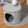 PawHut® Kratzbaum mit Katzenhöhle Hängematte Katzenbaum 3 Bälle Jute Grau(m-8)