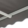 Outsunny® Markise inkl. Fernbedienungv 4,95x3m Gelenkarmmarkise Kurbelx Alu Grau(m-10)