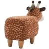 HOMCOM® Hocker für Kinder Kinderhocker Sitzhocker Polsterhocker im Tier-Design Giraffe(m-6)