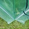 Outsunny® Gewächshaus Treibhaus Tomatenhaus Frühbeet mit Tür zum Aufrollen Stahl PE Grün(m-6)