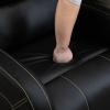 HOMCOM® Relaxsessel Liegesessel | Fernsehsessel | Veganleder | Schwarz | 70 x 93 x 100 cm(m-10)